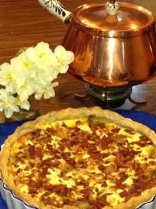'BACON'-ONION-CHEESE QUICHE
