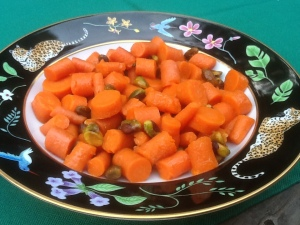 Carrots & Pistachio Nuts in a Cointreau Sauce