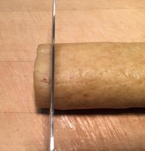 """slice dough into 1/4"""" discs"""