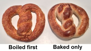 pretzel-baked vs boiled