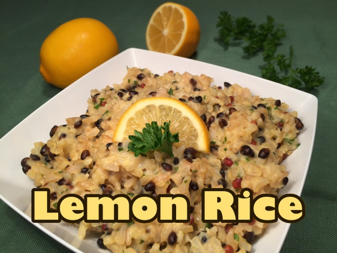 lemon rice with text