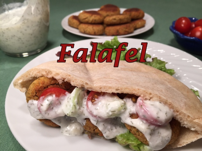 falafel sandwich text