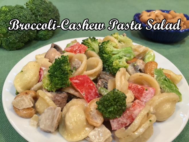 broccoli cashew salad text