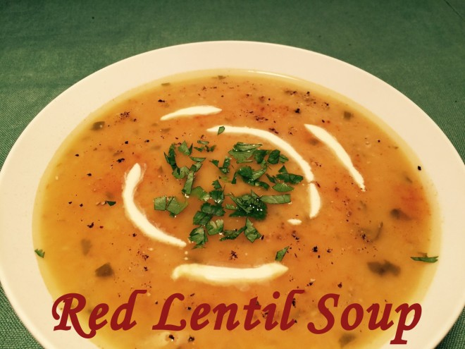 red lentil soup text
