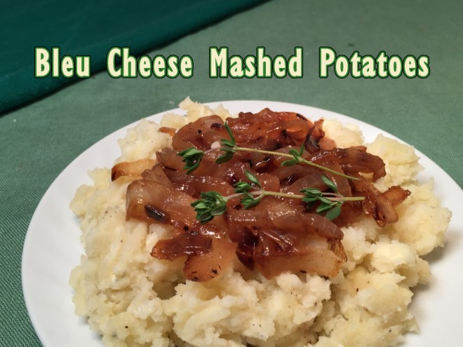 bleu cheese mashed potatoes text
