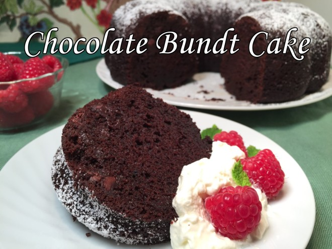 chocolate bundt cake text
