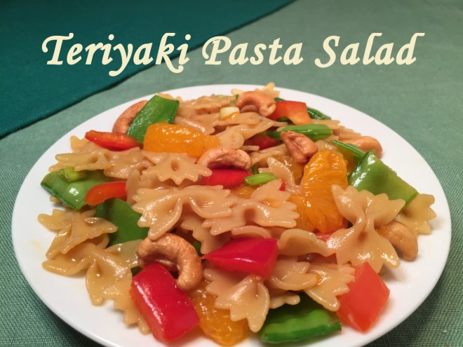 teriyaki pasta salad text