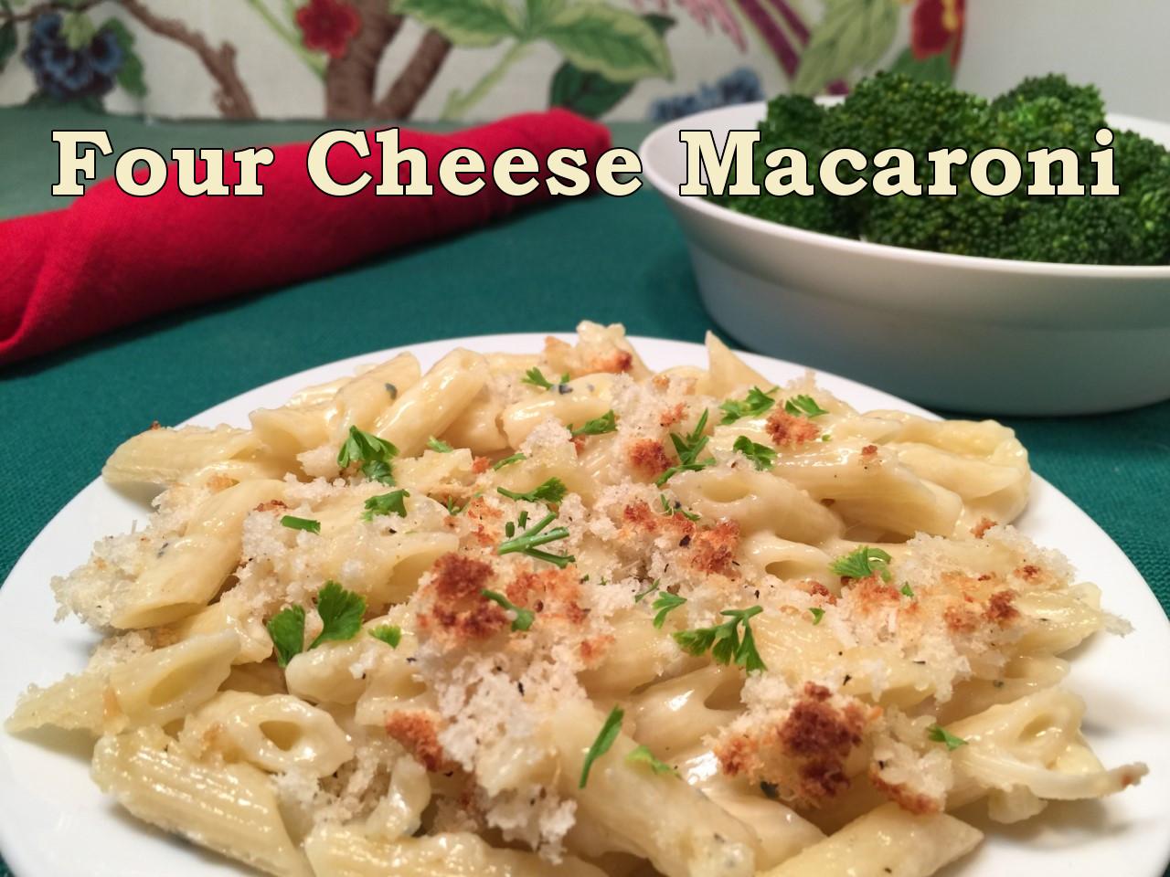 four cheese mac text