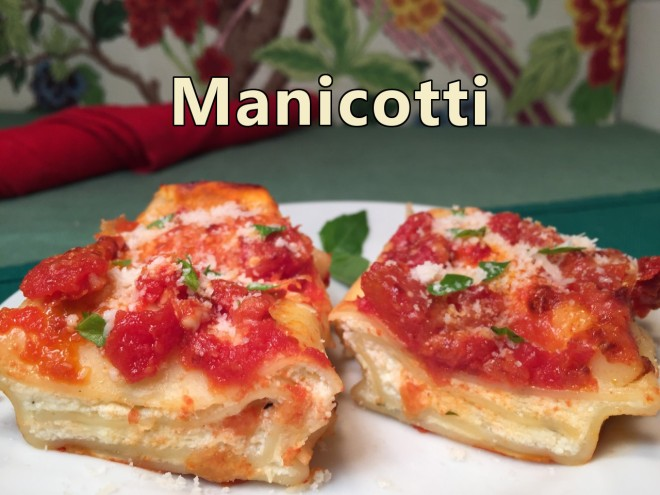 manicotti text