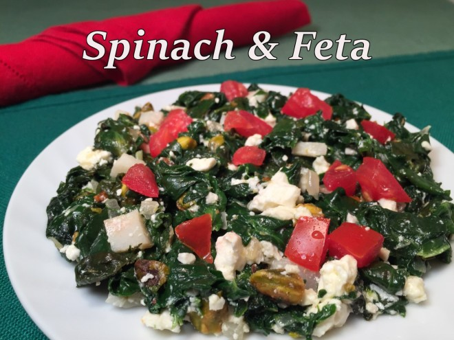 spinach feta text