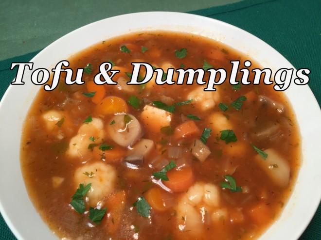 tofu & dumpling text