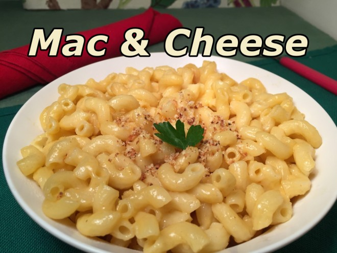mac & cheese hack text