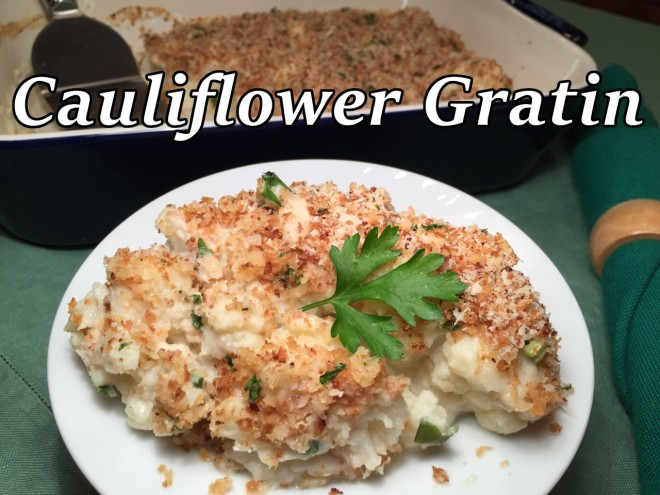cauliflower gratin text