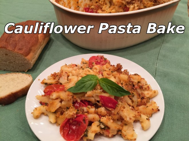 cauliflower pasta casserole text