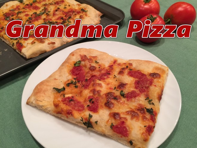 grandma pizza text