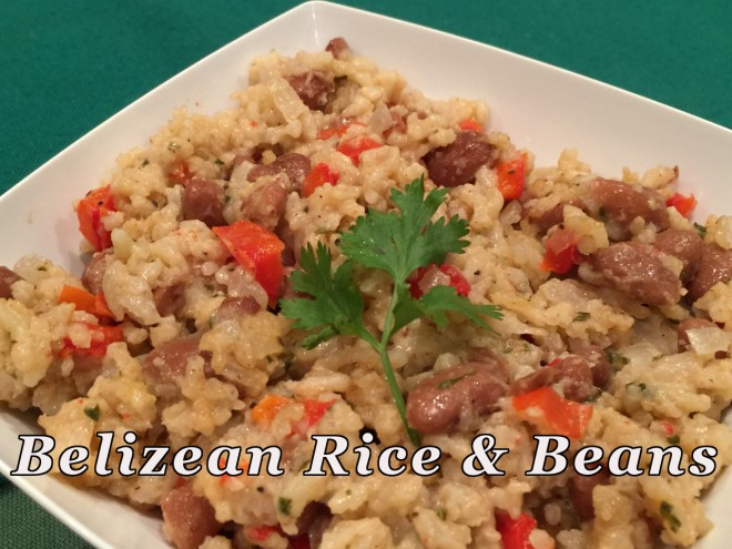 Belezian rice and beans text