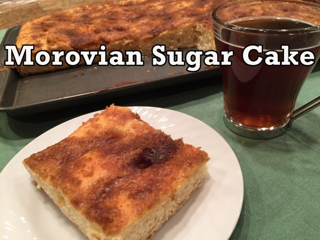 morovian coffee cake text